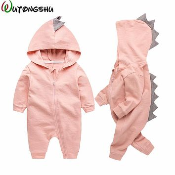 Dinosaur Baby Costume Fall Winter Newborn Boy Girl Rompers Halloween Christmas Baby Outerwear Clothing Infant Overalls For 0-12M