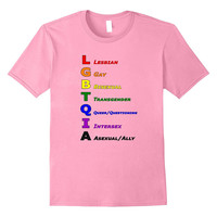 LGBTQ Pride T-Shirt - What does LGBTQIA mean?