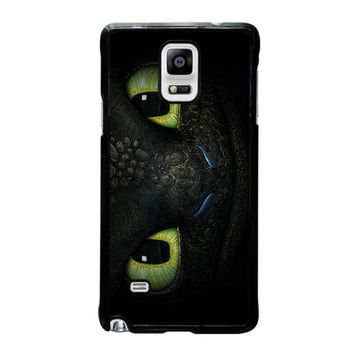 toothless how to train your dragon samsung galaxy note 4 case cover  number 1