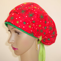 Bouffant-Handmade-Medical Scrub Nurses Cap-Woman Hat-100 % Cotton.