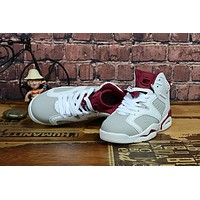 Kids Air Jordan 6 White/wine Red Sneaker Shoe Size Us 11c 3y | Best Deal Online