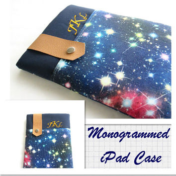 Monogrammed iPad Case, Personalized iPad Cover, iPad Pro Case, iPad Air Cover, iPad Air Case.