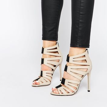 ASOS HIT THE MARK Caged High Heels