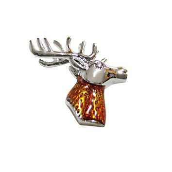 Colored Stag Deer Head Magnet