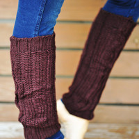 Nice And Cozy Leg Warmers: Chocolate | Hope's