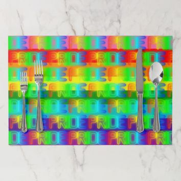 Pride Rainbow Flag LGBT Gay Lesbian Equality Love Placemat