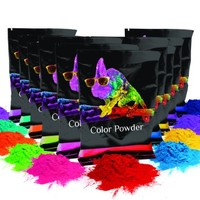 Holi Color Powder- 10pack. 70g each. Premium Colors- Red, Yellow, Navy Blue, Green, Orange, Purple, Pink, Magenta, True Blue, Aquamarine Chameleon Colors