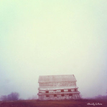 barn, country living, farm, fog, fine art photography