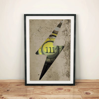 Fallout inspired Small print - Vault 111 - Concrete - poster print - matte - glossy - metallic - digital art - Fallout