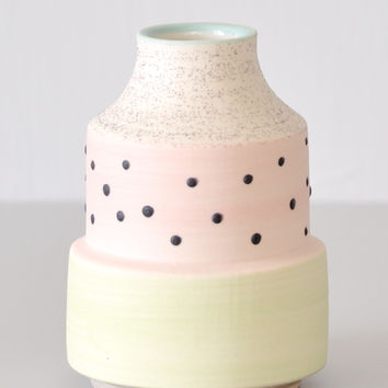 Bud Vase - Black Dot