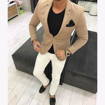 Men's Custom 2 Piece Summer Suit Up To 6XL(Jacket+Pants)