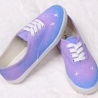 Harajuku Wind Gradient Star Canvas Shoes JCFD from Eternal