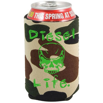 Diesel Life Skull With Color Imprint Koozie