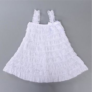 1 years old Baby Girl Dress Summer Style Girl Lace Dress 2015 Fashion Kids Clothes Sleeveless Girl Dress vestidos infantis