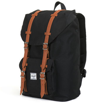 Little America Mid Volume Backpack in Black by Herschel Supply Co.