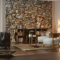 Brewster Home: Stone Mural 8'4x12'1, at 48% off!