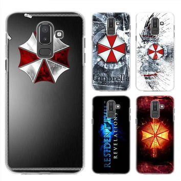 BiNFUL Resident Evil Umbrella Corporation Hard Clear Case Cover Shell for Samsung Galaxy A6 A8 Plus 2018 J4 J6 J8 2018