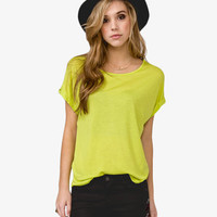 Cuffed Dolman Sleeve Top