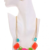 Gold Multi Gemstone Accessories Set