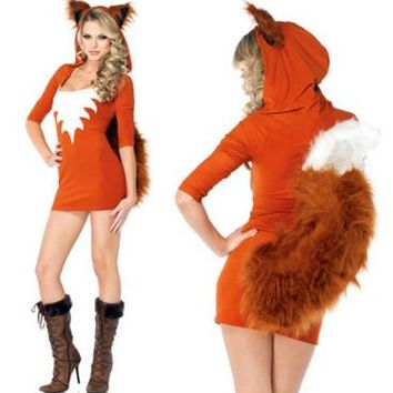 New halloween Fur animals  cute big tail small fox / RPG animal / game uniforms