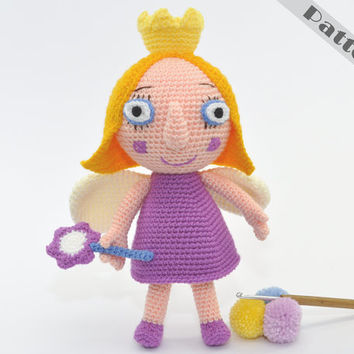 Princess Holly Soft Toy From Ben and Holly's Little Kingdom,CROCHET PATTERN Amigurumi