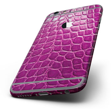 The Bright Magenta Aligator Skin Six-Piece Skin Kit for the iPhone 6/6s or 6/6s Plus