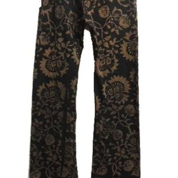 Floral Printed High Waisted Full Length Bell Bottom Pants