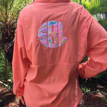 Lilly Monogrammed Fishing Shirts