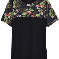 'The Mackenzie' Black Floral Printed T-shirt