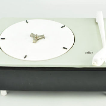 Braun Vinyl Turntable PC3 SV Dieter Rams 1959 Vintage Record Player Vinyl Record