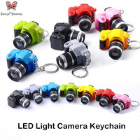Creative Camera Led keychains With sound LED Flashlight