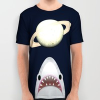 The Universe Is A Shark's Playground All Over Print Shirt by Octavia Soldani
