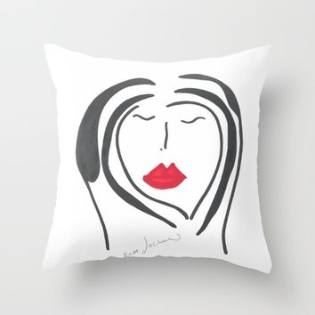 Woman Throw Pillow by EvidaSerrano