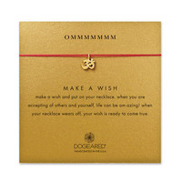 ommmmmmm, om charm red silk necklace, gold dipped - Dogeared