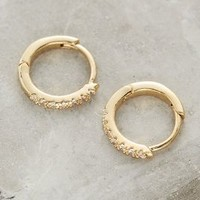 Glimmer Mini Hoops by Anthropologie in Gold Size: One Size Earrings