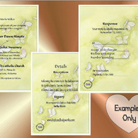 Yellow Butterflies - - DIY Custom Printable Wedding Card Set, Invitations, Detail, RSVP - Response, Thank You Card