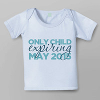 Pregnancy Announcement - Only Child Expiring Transfer - Iron on PDF for girl or boy sibling sister brother
