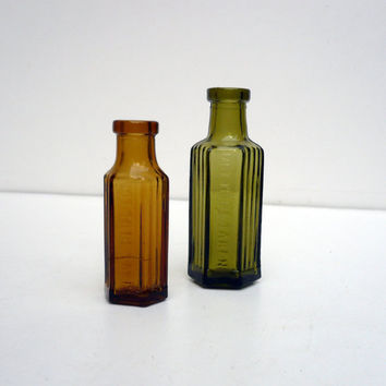 Vintage Glass Bottles   Colored Glass  Bottles