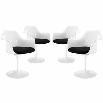 Lippa Dining Armchair Set of 4 Black