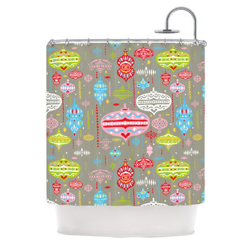 "Miranda Mol ""Ornate Silver"" Ornaments Shower Curtain"