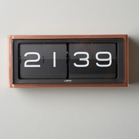Retro Wall Clock by Anthropologie in Copper Size: One Size Clocks