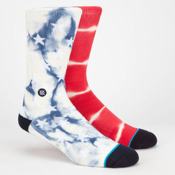 Stance Patriot Mens Athletic Crew Socks Red/White/Blue One Size For Men 25529294801