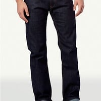 Raw Cuffed Slim Straight Jean