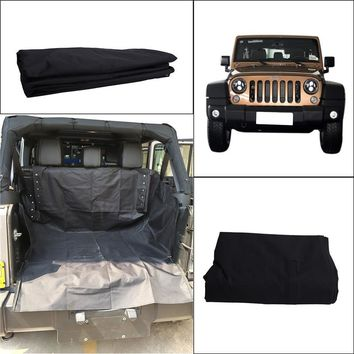 Pet Safety Seat Waterproof Carrier Cover Fold Cat Dog Safety Travel  Blanket Hammock Style For  2007-2017 Jeep Wrangler JK //