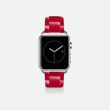 Ceramic style band red Apple Watch Band (38mm) by WAMDESIGN | Casetify