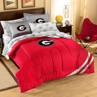 Georgia Bulldogs NCAA Bed in a Bag (Contrast Series)(Full)