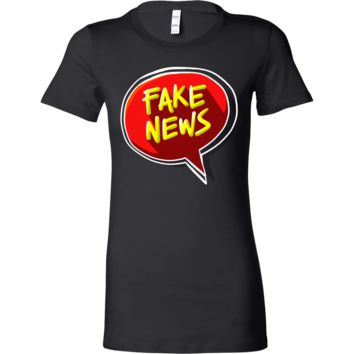 Funny Fake Political TV News Stamped Bella Shirt