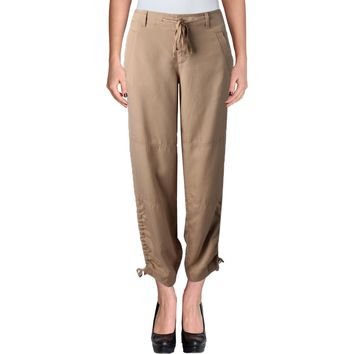Lauren Ralph Lauren Womens Woven Seamed Khaki Pants