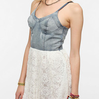 Urban Outfitters - Motel Denim Bustier Lace Dress