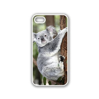 Koala Bear On Tree iPhone 5 White Case - For iPhone 5/5G White - Designer TPU Case Verizon AT&T Sprint